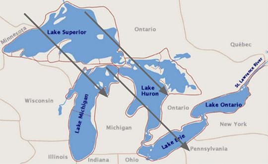 Где находиться озеро верхнее на карте