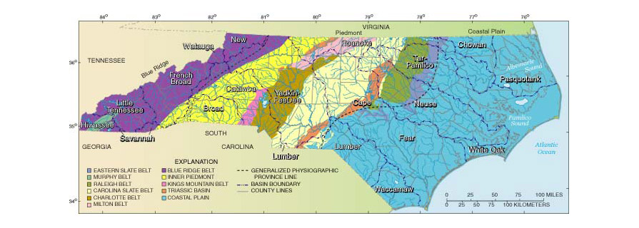 Geography North Carolina Climate - Map of eastern north carolina