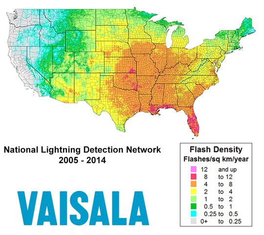 Lightning Weather And Fireworks - Lightning map us