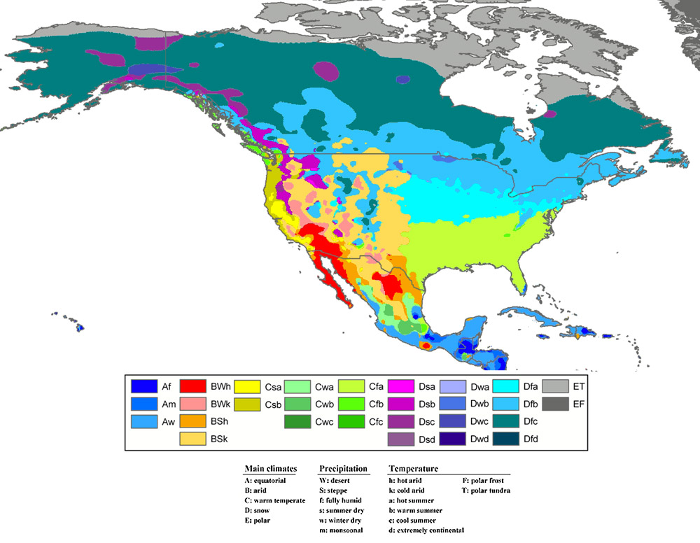 Climate Zones of North America  Climate and Soil Composition